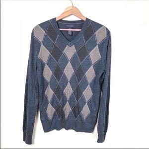 Banana Republic Silk Cashmere Argyle Sweater